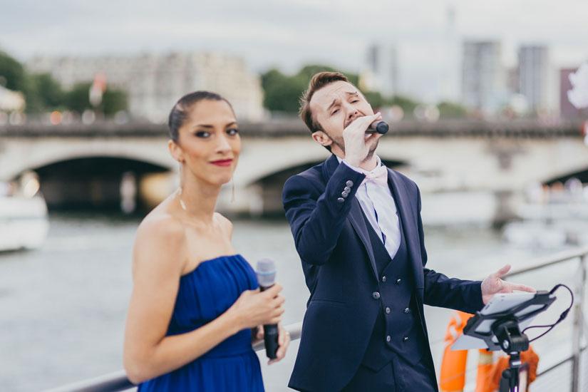 Un couple de chanteur