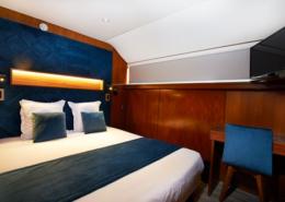 Chambre double sur le VIP Paris Yacht Hôtel